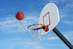 basketball shot - basketball net