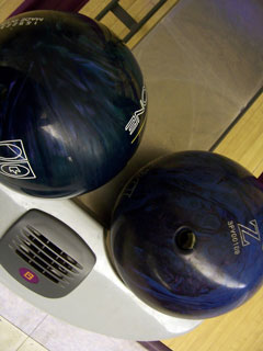 bowling balls in ball return