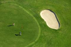 golf fairway - aerial view