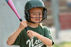 junior softball player