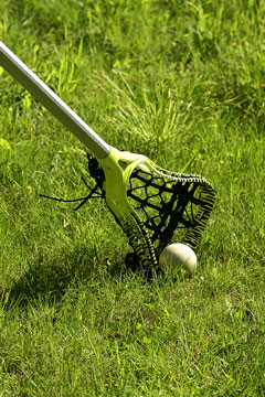 lacrosse equipment - lacrosse stick and ball