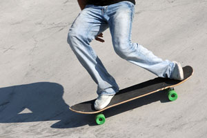 skateboard stance